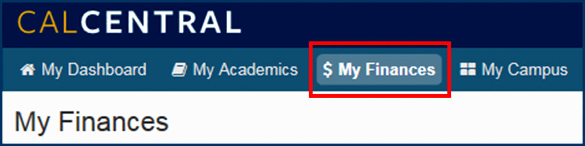 CalCentral My Finances tab screenshot