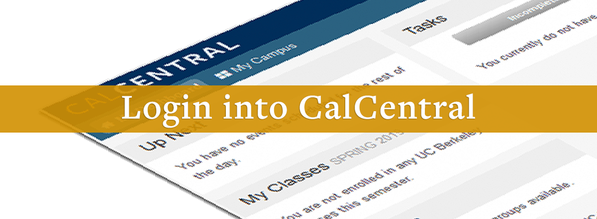 Log into CalCentral