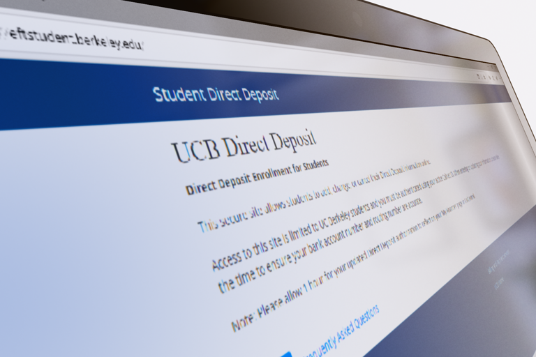 Direct Deposit website for students